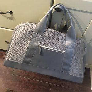 Handbags - Gray Silver Gym Travel Duffle Bag! New!